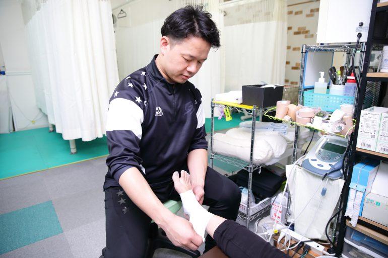 包帯固定|戸田市で接骨院なら、戸田スポーツ接骨院